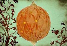 Christbaum Stoff Kugeln 12 x 14 cm gold Stoff  Schmuck Weihnachts Dekoration