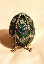 MONET Enameled & Rhinestone Egg Shaped Trinket Box – Beautiful!