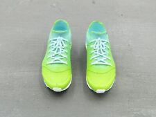 1/6 Scale Toy Lime Green & Turquoise Female Exercise Sneakers (Peg Type)