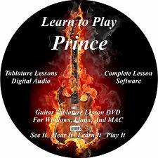 Prince Guitar TABS Lesson CD 47 Songs + Backing Track + BONUS!