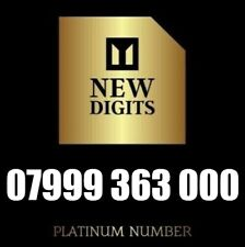 GOLD VIP DIAMOND PLATINUM BUSINESS MOBILE NUMBER SIM CARD 999 363 000