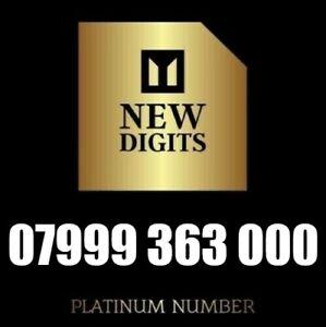 GOLD VIP BUSINESS EASY MEMORABLE MOBILE NUMBER SIM CARD 999 363 000