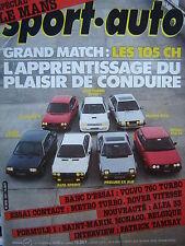revue SPORT AUTO 1983 24 H DU MANS / ALFASUD & ALFASPRINT TI / HONDA PRELUDE EX