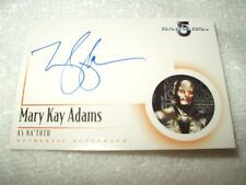 Babylon 5 Autograph Card Mary Kay Adams as Na'Toth A8