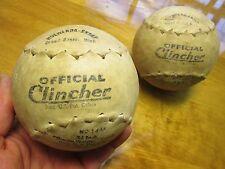 "vintage Softball Holwerda-Snoap ""Clincher"" No-14AA Steam welded Kapok elastic sh"
