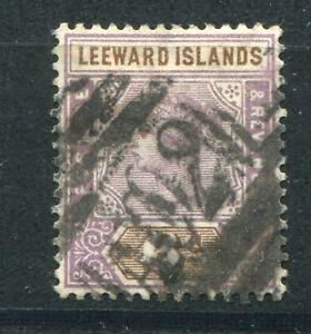 QV LEEWARD ISLANDS 1890 ISSUE 6d SG 5 FU