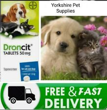 More details for droncit dog & cat tapeworm worming tablets wormer (50mg tablet - avm-gsl)