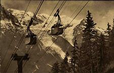 Chamonix France Rhône-Alpes ~1920/30 Mont Blanc Téléphérique Planpraz Seilbahn