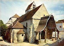 BR13642 Eglise d Avon Portail et porche en bois   france