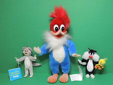 Lot 3 Figurine Titi & Sylvester Woody Woodpecker Tom & Jerry flexible Flexy 90's