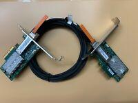 2PCS Mellanox MCX311A-XCAT CX311A ConnectX-3 EN Network Card 10GbE SFP+ cable