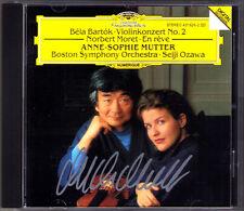 Anne-Sophie MUTTER Signiert BARTOK MORET Violin Concerto En rêve Seiji OZAWA CD