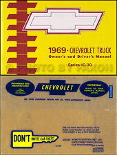 1969 Chevy Truck Owner Manual Package with Envelope Pickup Suburban K and C10-30