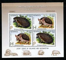 2012 Belarus.  Joint issue. Kazakhstan-Belarus. ANIMALS.Hedgehogs. M/sheet