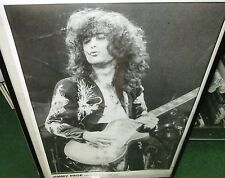 Jimmy Page Led Zeppelin Live Earl'S Court 75 Rare New Poster Mid 2000'S Vintage