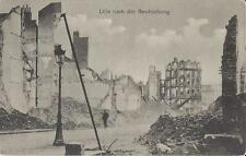 ✚811✚ German Field Postcard Feldpost WW1 FRANCE RUINS LILLE ARTILLERY ATTACK