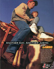 1995 Justin Sport Lace-R Boots Print Ad