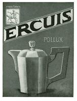 Publicité ancienne cafetière Ercuis Pollux 1930 issue de magazine