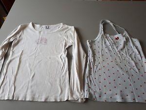 debardeur et t-shirt manches longues Petit Bateau  12 ans