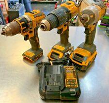 Dewalt 3-Piece 20V Lith-Ion Set DCF885/DCD778/DCD790 W/ 2 Batteries & Charger GC