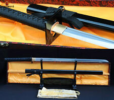 FOLDED STEEL BLADE JAPANESE SAMURAI SWORD NINJA MATACH KATANA SHARP FULL TANG