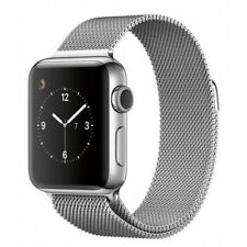Apple Watch 42mm Stainless Steel Case Stainless Steel Milanese Loop -...