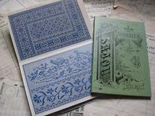 Sajou Green Cross Stitch Album 657-French vintage Borders & coins