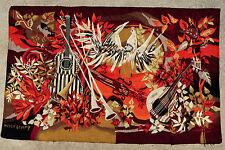 Tapisserie tapis ancien antique rug Hervé Lelong Aubusson France 1970