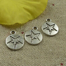 Free Ship 308 pieces tibetan silver star charms 14x11mm #4524