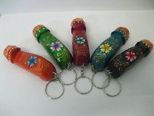 5 Pcs. Wooden Keyring Key Chain Bundle Penis Shaped Painted Souvenir Gift