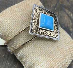 Barse Finespun Cuff Bracelet-Turquoise- Mixed Metals- NWT