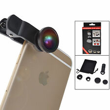 3 in 1 Camera Lens Kit Wide Angle Macro Fish Eye Lense iPhone Samsung Universal