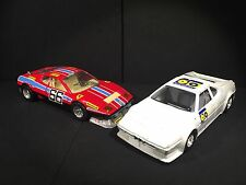 Vintage 80s Bburago Lot of 2 1:24 BMW M1 & Ferrari 512BB Rallye Made in Italy