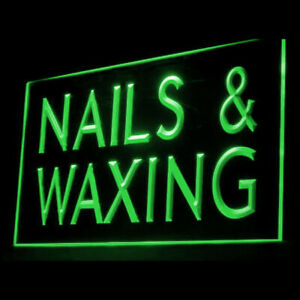 160041 Nails & Waxing Beauty Simple Painles Hair Display LED Light Neon Sign