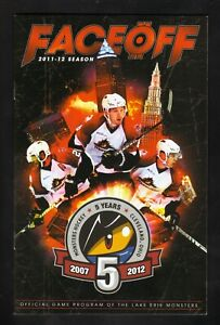 Lake Erie Monsters--2011-12 Game Program--AHL--Avalanche Affiliate