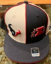 VINTAGE REEBOK HOUSTON TEXANS AFC FITTED HAT NAVY RED SZ 7 1/2 -7 7/8