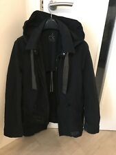 Calvin Klein Black Mens Mac Coat Overoat with Lining Slim Size UK M