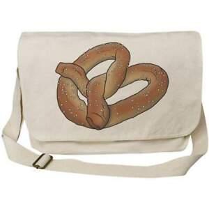 'Pretzel' Cotton Canvas Messenger Bags (MS030338)