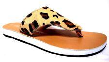 sz 8 / 39 TS TAKING SHAPE Leopard Thongs Leather Sandals flats slip on shoes NIB