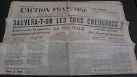 Journal Nationalist L Action Figure French 4 Mars 1934 N° 63 ABE