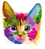 Colourful Cat Rainbow Pet Iron On Transfer A5