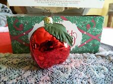 Old World Glass Apple Christmas Ornament Germany with Star Quality