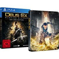 Deus Ex - Mankind Divided Day One Edition + Steelbook PlayStation 4 NEU deutsch