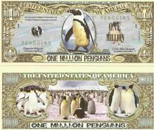 Penguins Emperor Little Blue Chilly Willy Million Dollar Bills x 2