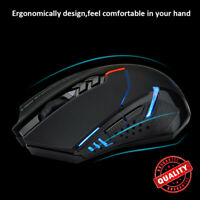 ET X-08 2000DPI Adjustable 2.4G Wireless Professional Gaming Mouse Mice Black