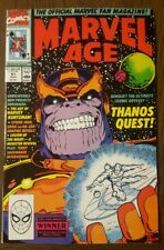 MARVEL AGE #91 Marvel 1990 ~ THANOS QUEST Preview NM-  PICS
