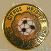 VINTAGE Soccer Ball Sports CITRUS HEIGHTS SOCCER CLUB  80s Hat Pin Badge Pinback