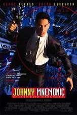 "JOHNNY MNEMONIC Movie POSTER 27x40 Keanu Reeves Dina Meyer Ice-T Takeshi ""Beat"""