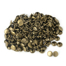 100x Double Cap Rivet Tubular Metal Leather Craft Repairs Studs Punk Spike Decor
