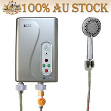 Electric 5.8KW Tankless Hot Water Heater System Temp Adjust with Shower Head